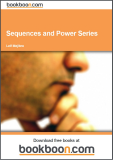 Sequences and Power Series Guidelines for Solutions of Problems Calculus 3b