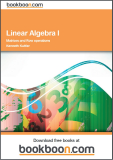 Linear Algebra I Matrices and Row operations