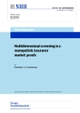 Multidimensional screening in a monopolistic insurance market: proofs