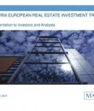 MATRIX EUROPEAN REAL ESTATE INVESTMENT TRUST LIMITED