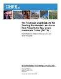 The Technical Qualifications for  Treating Photovoltaic Assets as  Real Property by Real Estate Investment Trusts (REITs)