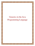 Generics the Java Programming Language