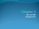 Chapter 3: SQL and QBE Transparencies