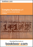 Complex Functions c-1 Examples concerning Complex Numbers