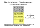 The Jurisdiction of the Investment  & Securities Tribunal