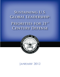 Sustaining U.S. Global Leadership: Preiorities For 21st Century Defense