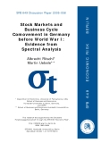 Stock Markets and  Business Cycle  Comovement in Germany  before World War I:  Evidence from  Spectral Analysis