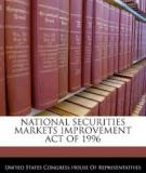 NATIONAL SECURITIES MARKETS IMPROVEMENT ACT OF 1996