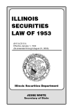 ILLINOIS SECURITIES LAW OF 1953
