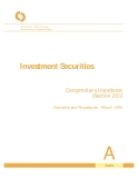 Investment Securities Comptroller's Handbook (Section 203)