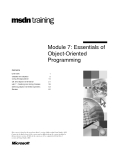 Essentials of Object-Oriented Programming - Module 7
