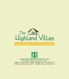THE HIGHLAND VILLAS FLOOR PLANS & LIST OF SPECIFICATIONS