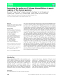 Báo cáo khoa hoc : Assessing the patterns of linkage disequilibrium in genic regions of the human genome