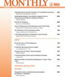 THE AMERICAN MATHEMATICAL MONTHLY VOLUME 107
