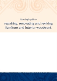 Your simple guide to repairing, renovating and reviving furniture and interior woodwork