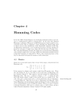 Chapter 4 - Hamming Codes