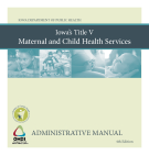 Maternal and Child Health Administrative Manual Fourth Edition