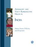 ADOLESCENT AND YOUTH REPRODUCTIVE HEALTH IN INDIA
