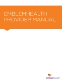 Sách: EMBLEMHEALTH  PROVIDER MANUAL