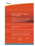 Child Health Program Oral Health Guidance Document