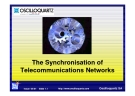 The Synchronisation of Telecommunications Network