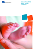 Maternal and Child  Health Service  Guidelines