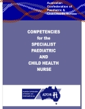Competencies for the Specialist  Paediatric and Child Health Nurse