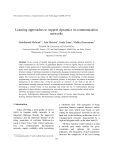 "Báo cáo "" Learning approaches to support dynamics in communication networks """