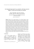 "Báo cáo "" An integrated approach for an academic advising system in adaptive credit-based learning environment """