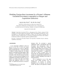"Báo cáo "" Modeling Foreign direct investment by a Prisoner's dilemma: Greenfield investment (cooperation) or Mergers and Acquisitions (defection) """