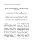 "Báo cáo "" Checking the conformability in CORBA component model specifications """