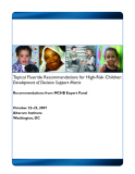 Topical Fluoride Recommendations for High-Risk Children Development of Decision Support Matrix