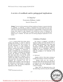 """Báo cáo """"  A review of washback and its pedagogical implications """""""
