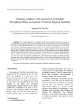 "Báo cáo ""  Training students' self-expression in English through portfolio assessment: A trial in English literature """