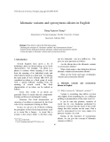 "Báo cáo "" Idiomatic variants and synonymous idioms in English """