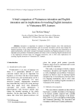 "Báo cáo "" A brief comparison of Vietnamese intonation and English intonation and its implications for teaching English intonation to Vietnamese EFL learners """