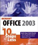 Microsoft Office 2003 in 10 Simple Steps or Less