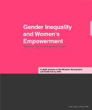 Gender Inequality  and Women's  Empowerment