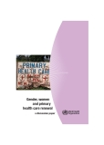 Gender, women and primary health care renewal: a discussion paper