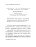 "Báo cáo "" Determination of the 15 MeV bremsstrahlung spectrum from thin W target on the microtron MT-17 accelerator """