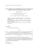 """Báo cáo """"On the stability of the distribution function of the composed random variables by their index random variable """""""