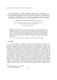 "Báo cáo ""The dependence of the nonlinear absorption coefficient of strong electromagnetic waves caused by electrons confined in rectangular quantum wires on the temperature of the system"""