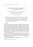 """Báo cáo """"  Influence of cooling rate on the properties of Fe73.5Si13.5B9Nb3Au1 ribbons """""""