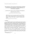 """Báo cáo """" The dependence of the parametric transformation coefficient of acoustic and optical phonons in doped superlattices on concentration of impurities"""""""