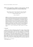 "Báo cáo ""Effect of the preparation conditions on the properties of Fe-Pt nanoparticles produced by sonoelectrodeposition """