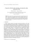 "Báo cáo ""  Composite cylinder under unsteady, axisymmetric, plane temperature field """