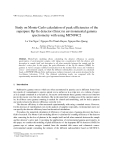 "Báo cáo "" Study on Monte-Carlo calculation of peak efficiencies of the superpure Hp Ge detector (Gmx) in environmental gamma spectrometry with using MCNP4C2 """