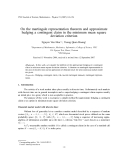 """Báo cáo """" On the martingale representation theorem and approximate hedging a contingent claim in the minimum mean square deviation criterion  """""""