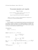 "Báo cáo "" The parameter-dependent cyclic inequality """