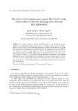 """Báo cáo """"The role of color luminescence centers Mn, Cu, Co in the semicondutors with wide band gap ZnS, ZnO and their applications """""""
